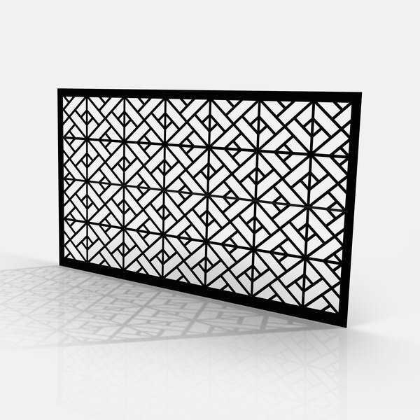 Tôle motif géométrique